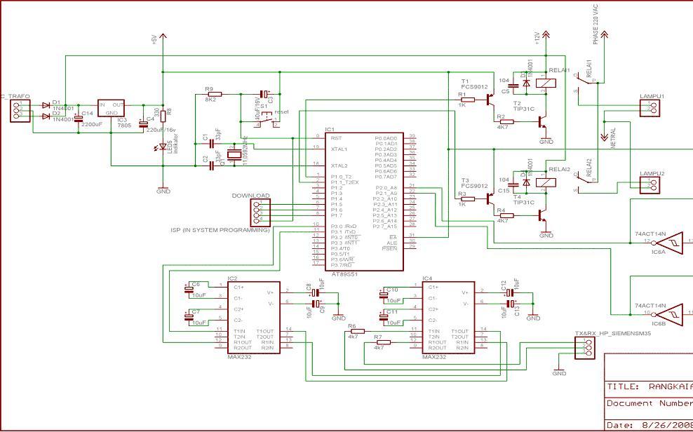 Perancangan pengendalian peralatan lampu listrik jarak jauh listing program ccuart Choice Image