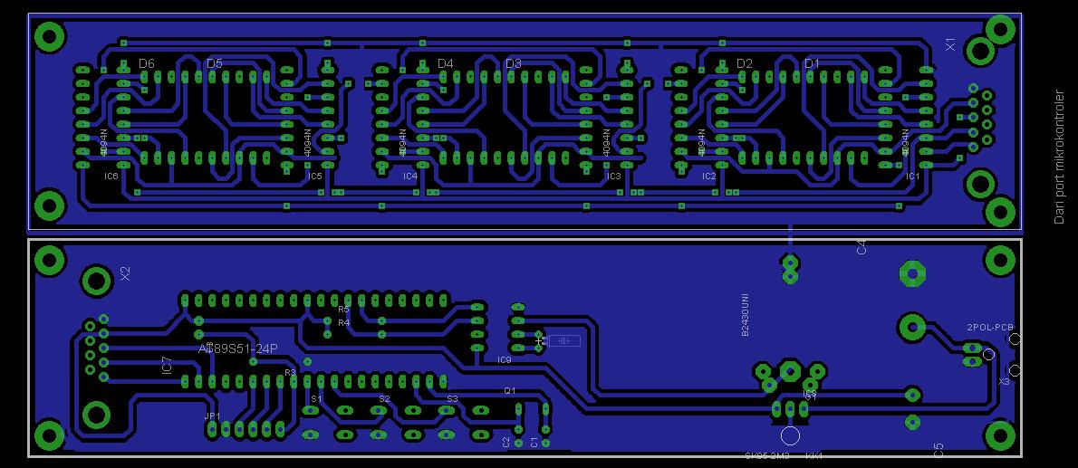JAM DIGITAL RTC DS1307 Skematik Rangkaian Board PCB…