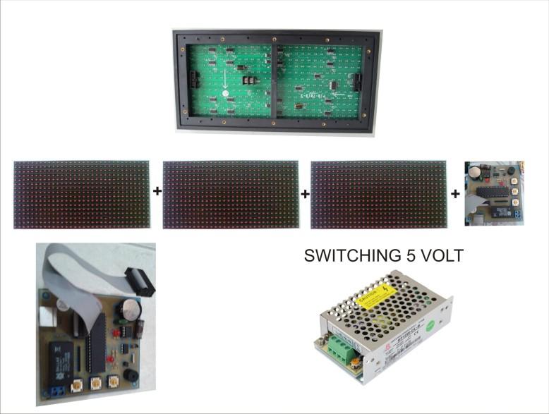 Koneksi p10 3 modul